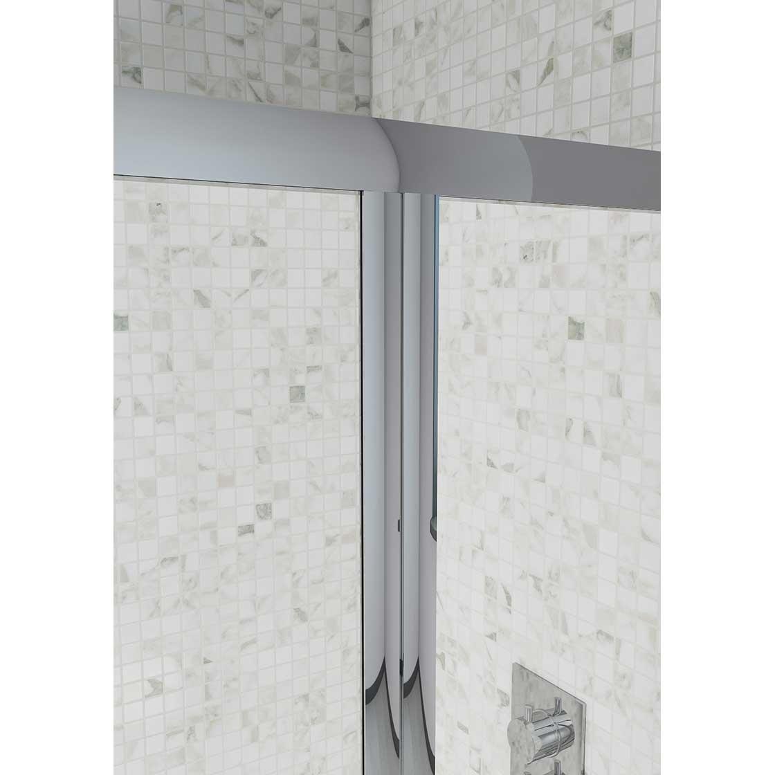 Cali Seis Bi-Fold Shower Door - 760mm Wide - 4mm Glass