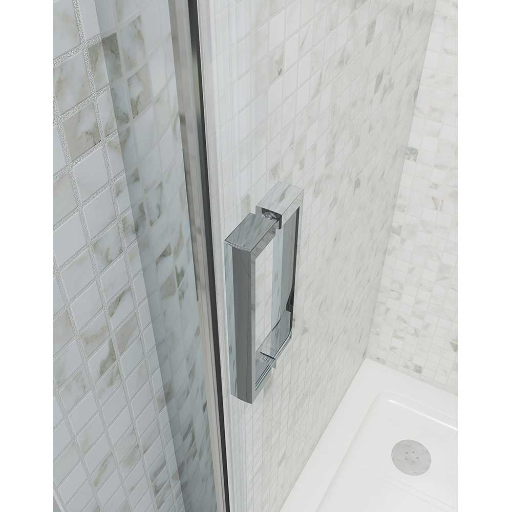 Cali Seis Sliding Shower Door - 1200mm Wide - 6mm Glass