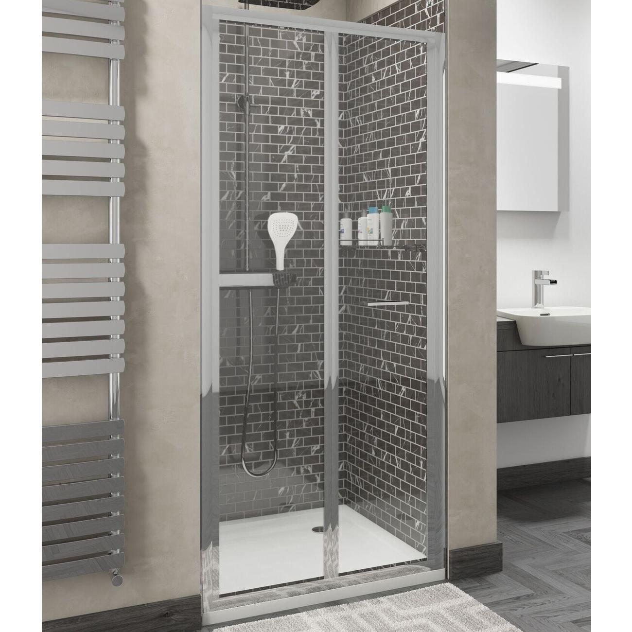 Cali Seis Bi-Fold Door Shower Enclosure 900mm x 900mm - 4mm Glass-4