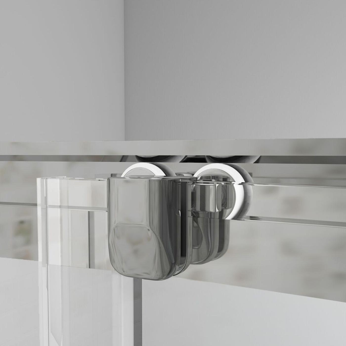 Cali Seis Offset Quadrant Shower Enclosure - 900mm x 760mm - 6mm Glass