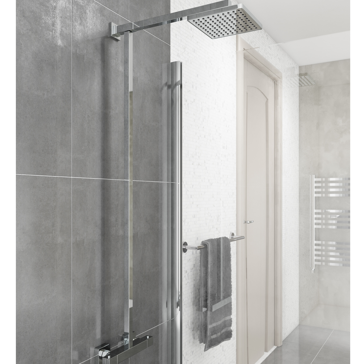 Cali Term Bar Mixer Shower with Fixed Head