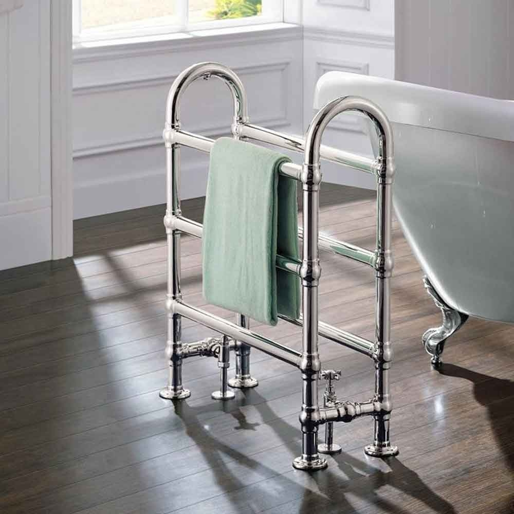 Cali Traditional Freestanding Heated Towel Rail - 778mm High x 686mm Wide - Chrome-0