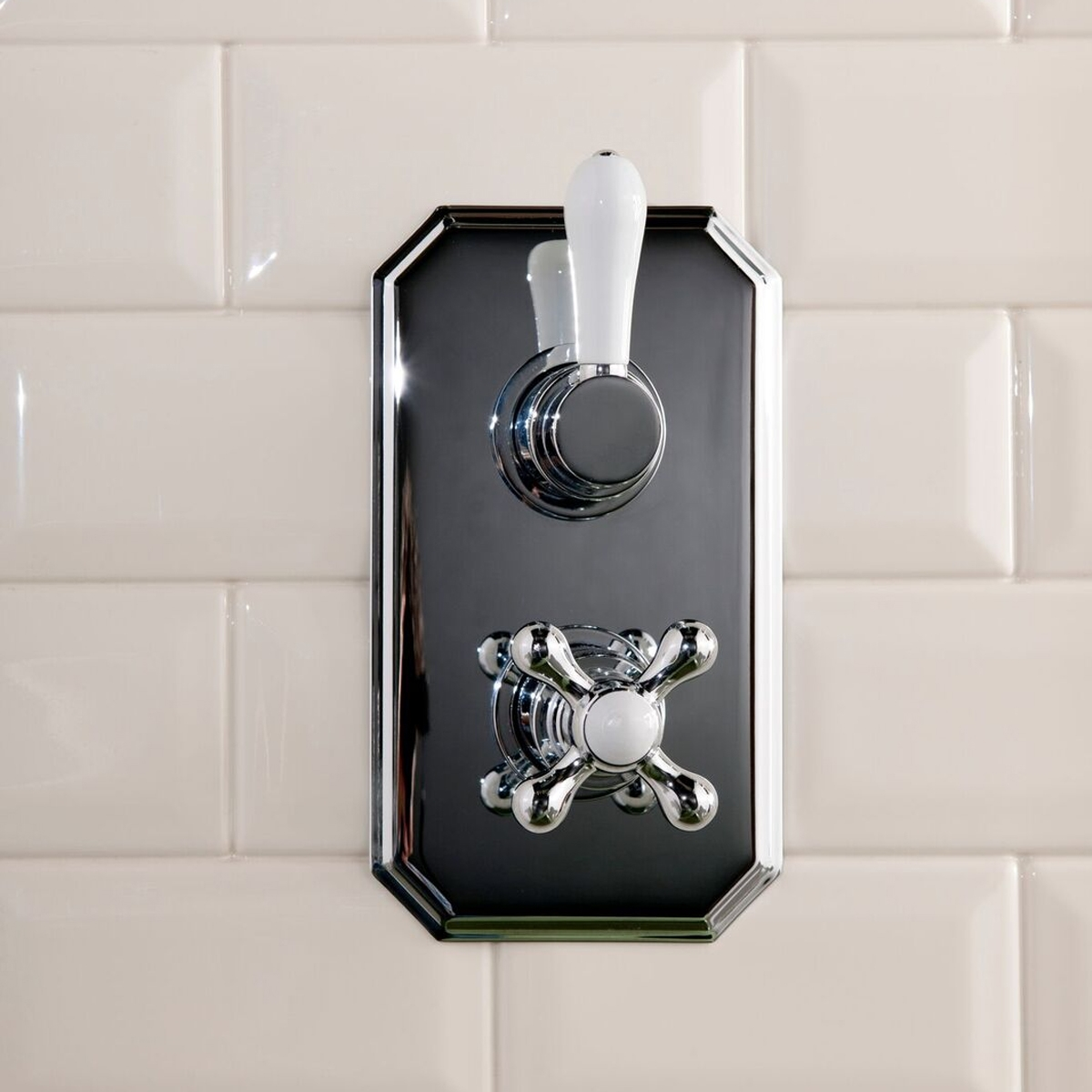 Cali Tudor Traditional Concealed Shower Valve - Dual Handle - Chrome