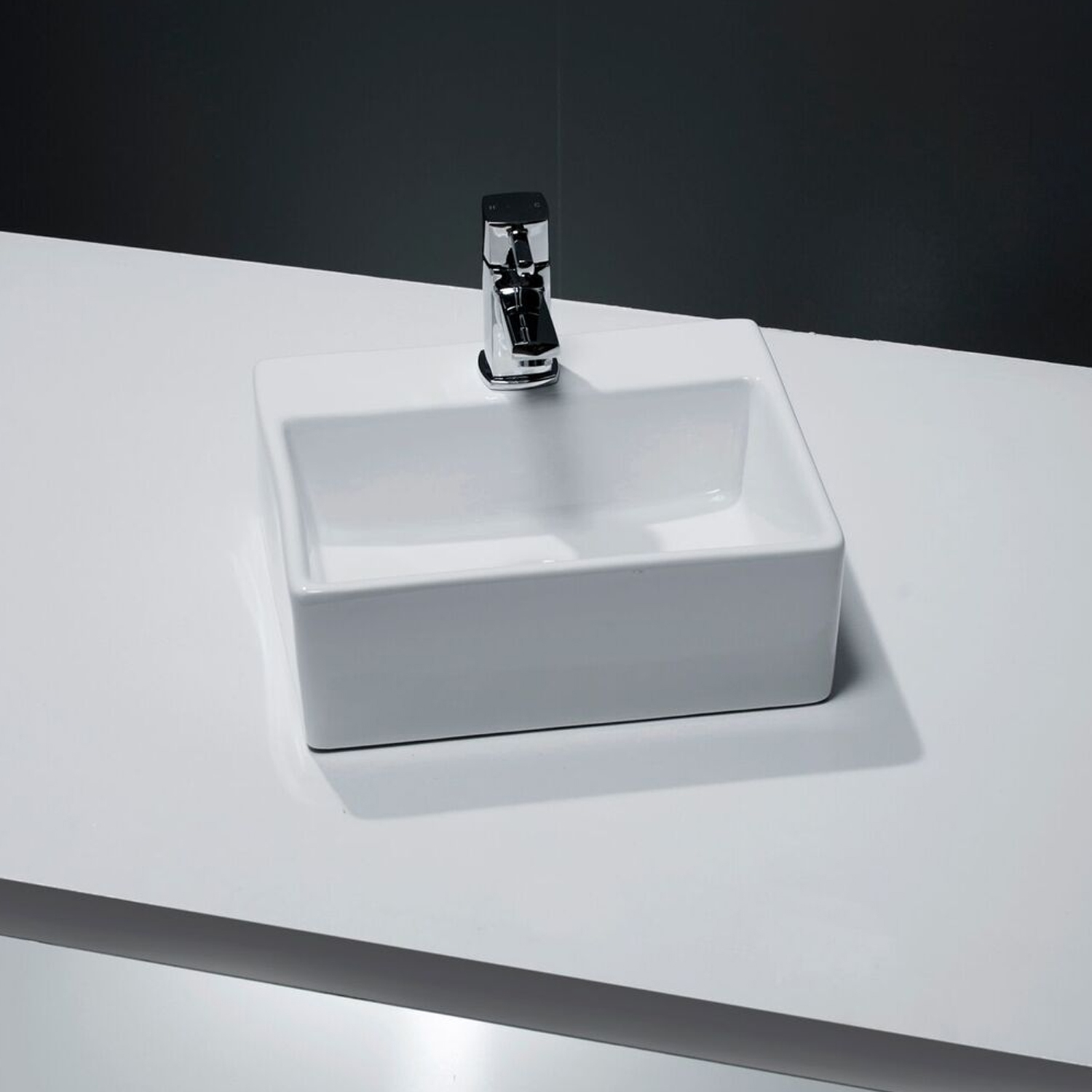 Cali Vessel Wall Hung Small Cloakroom Basin - 330mm Wide - 1 Tap Hole