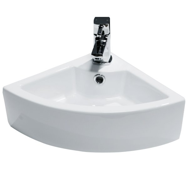 Cali Vessel Corner Cloakroom Basin - 325mm Wide - 1 Tap Hole