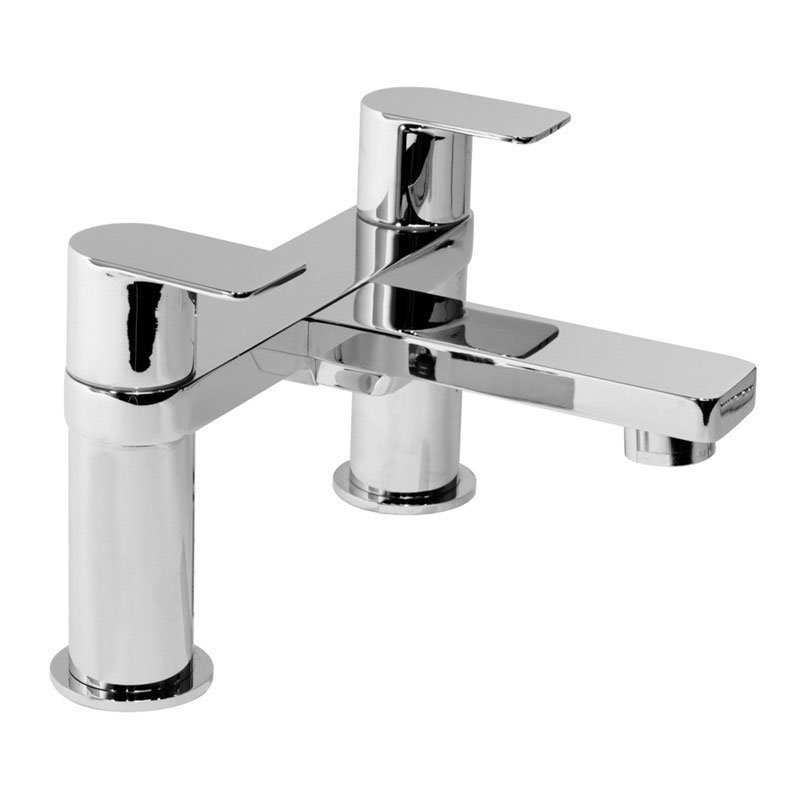 Cali Wind Bath Filler Tap - Deck Mounted - Chrome-0