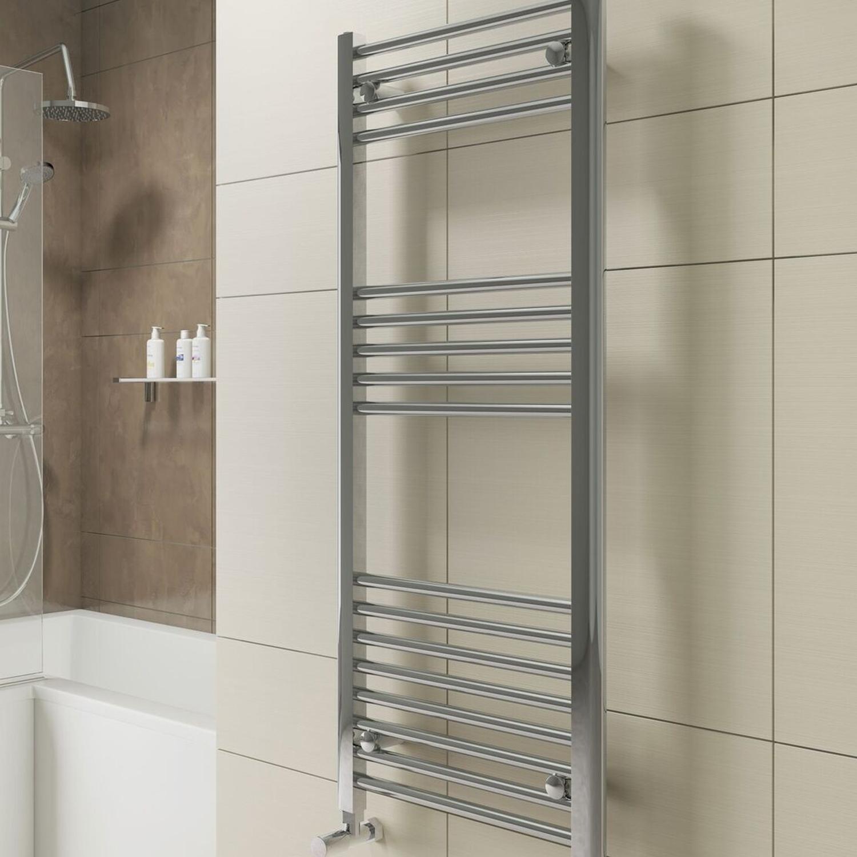 Cali York Straight Heated Towel Rail 1000mm H x 600mm W Chrome-0