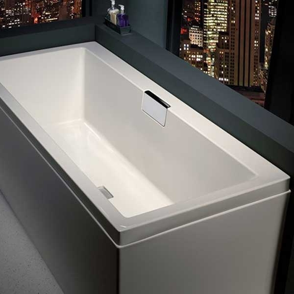 Carron Celsius DE 1700mm x 750mm Rectangular Bath Inc.HC3365-CAB-SQ - Left Handed - White