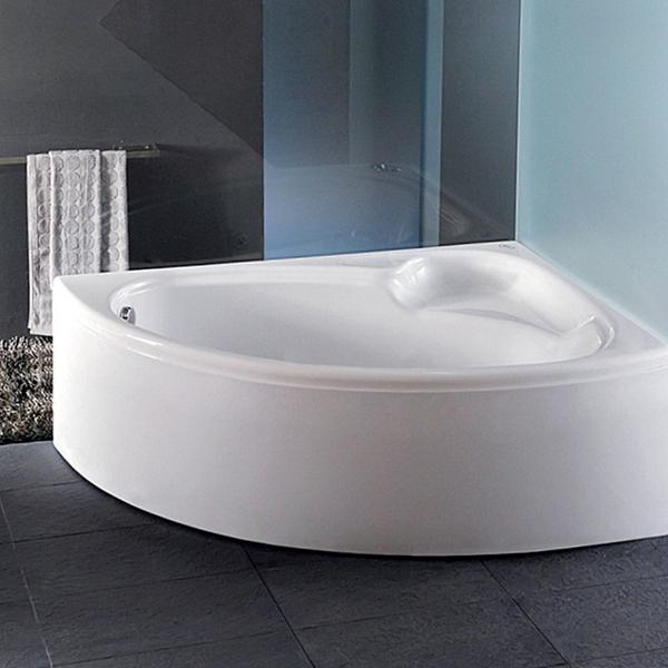 Carron Dove Offset Corner Bath 1550mm x 950mm Left Handed 5mm - Acrylic