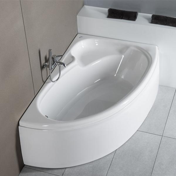 Carron Dove Offset Corner Bath 1550mm x 950mm Left Handed - Carronite-0