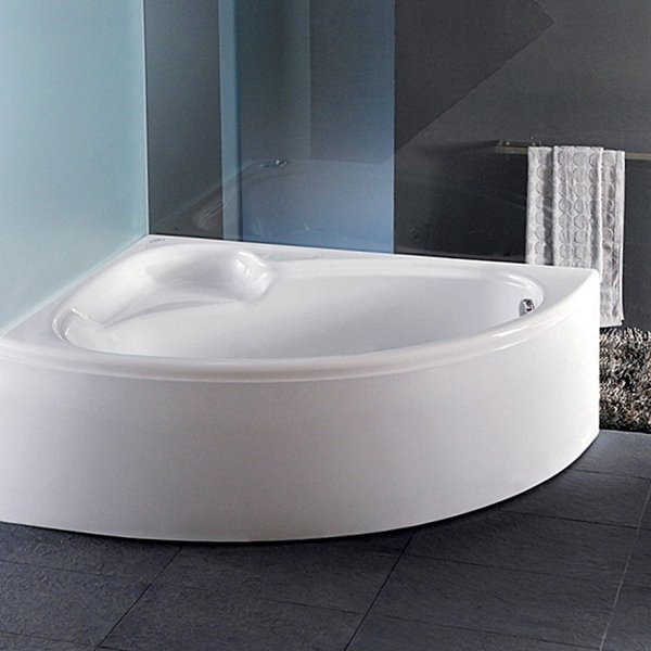 Carron Dove Offset Corner Bath 1550mm x 950mm Right Handed 5mm - Acrylic
