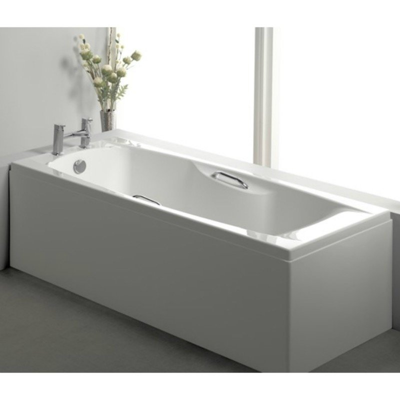 Carron Imperial TG 1675mm x 700mm Rectangular Bath with Grips - 5mm Acrylic