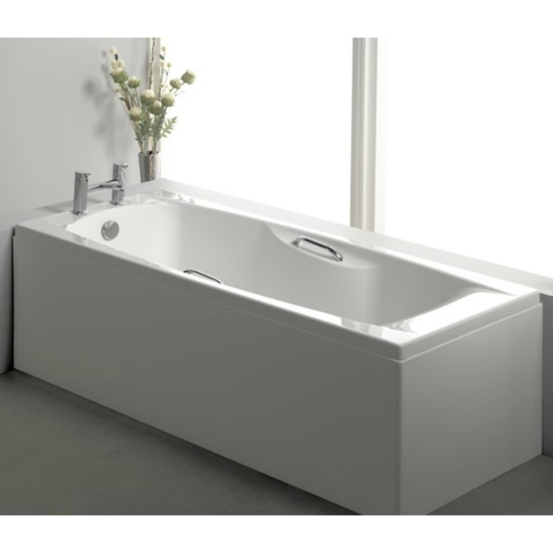 Carron Imperial TG 1800mm x 750mm Rectangular Bath with Grips - Carronite