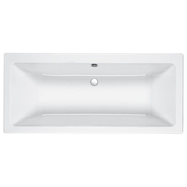 Carron Quantum Double Ended Rectangular Bath 1700mm x 750mm - Carronite-1