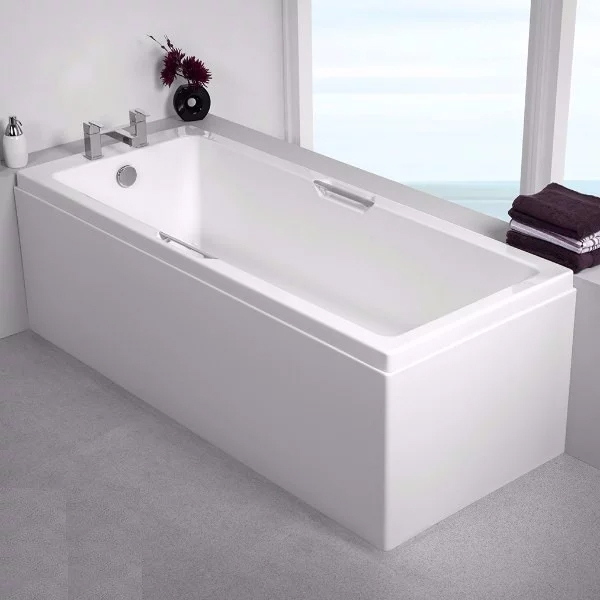 Carron Quantum Integra Rectangular Bath with Grips 1650mm x 700mm - 5mm Acrylic-0