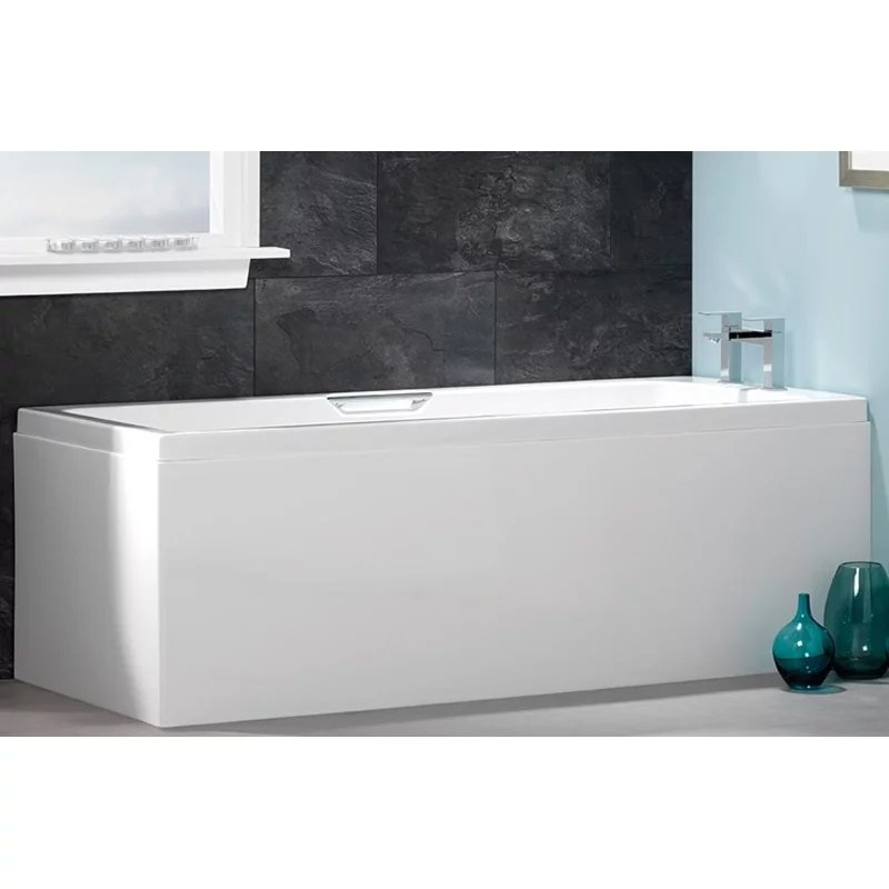 Carron Quantum Integra Rectangular Bath with Grips 1650mm x 700mm - 5mm Acrylic-1