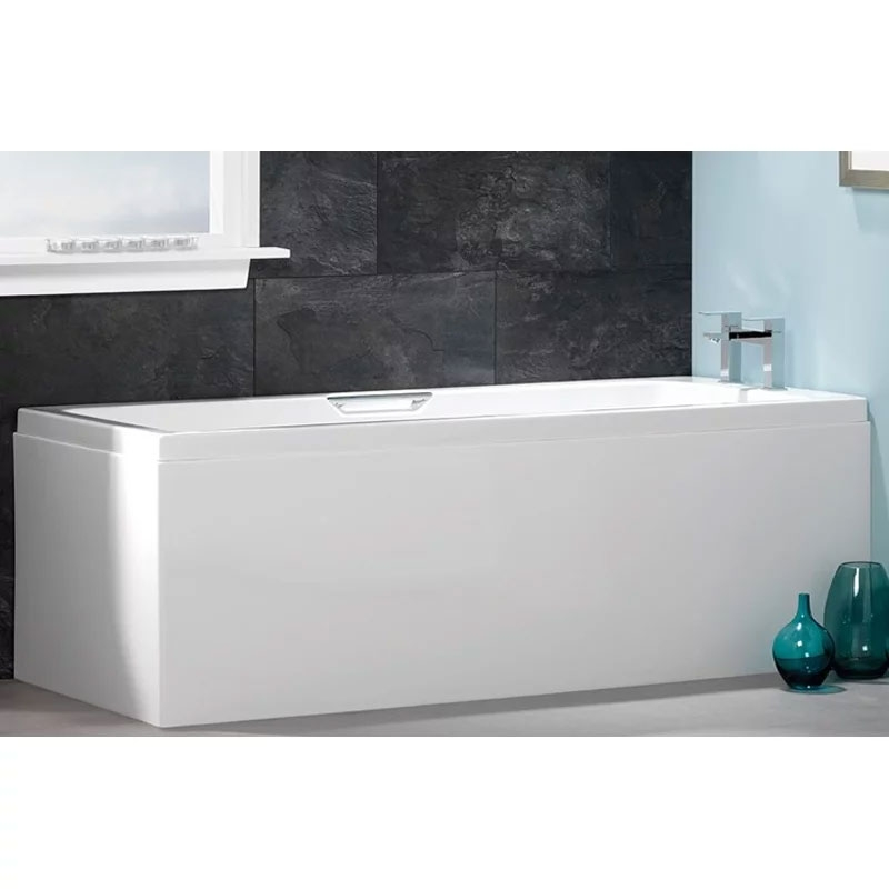 Carron Quantum Integra Rectangular Bath with Grips 1650mm x 700mm - Carronite