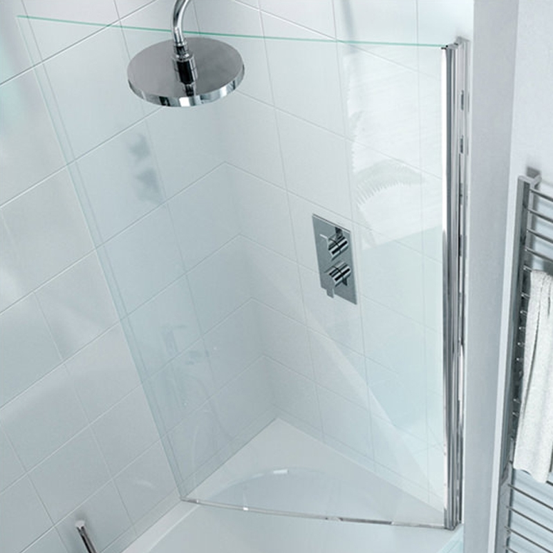Cleargreen Ecocurve Shower Bath Bathscreen 1450mm x 850mm - 6mm Glass-0