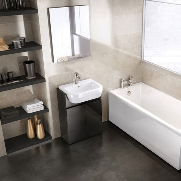 Cleargreen Sustain Rectangular Single Ended Bath 1700mm x 800mm - White-0