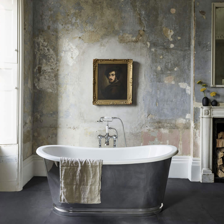 Clearwater Balthazar Freestanding Bath 1675mm x 761mm - Clear Stone-0