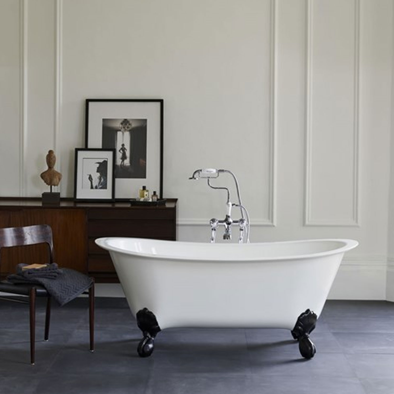 Clearwater Batello Grande Traditional Freestanding Bath 1690mm x 800mm - Clear Stone-0
