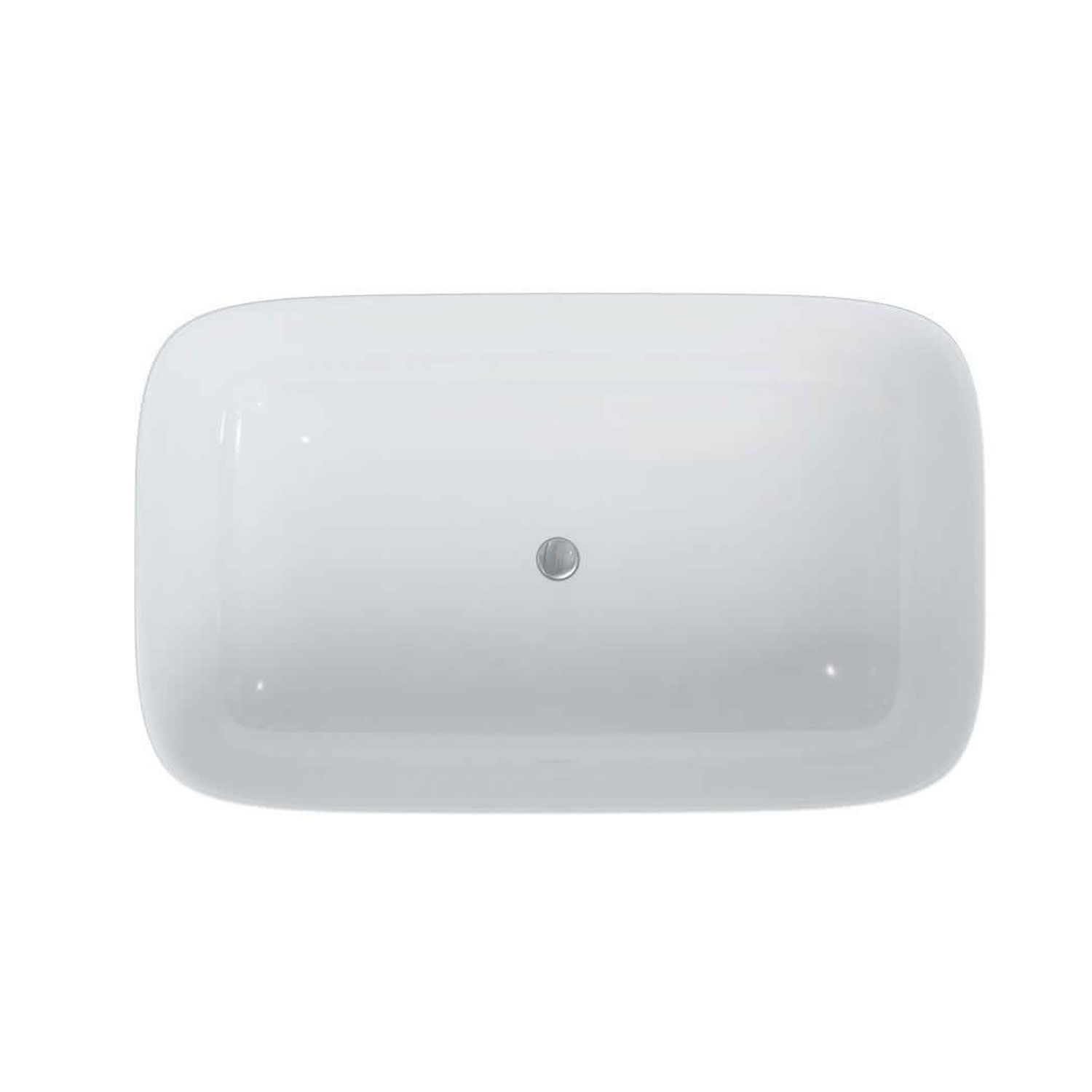 Clearwater Duo Freestanding Bath 1550mm x 950mm - Clear Stone-1