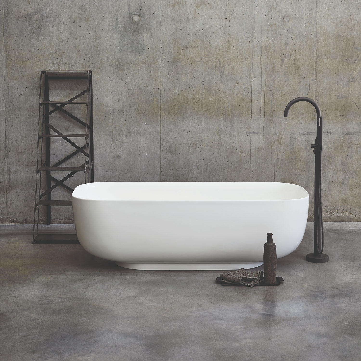 Clearwater Duo Freestanding Bath 1550mm x 725mm - Clear Stone-0