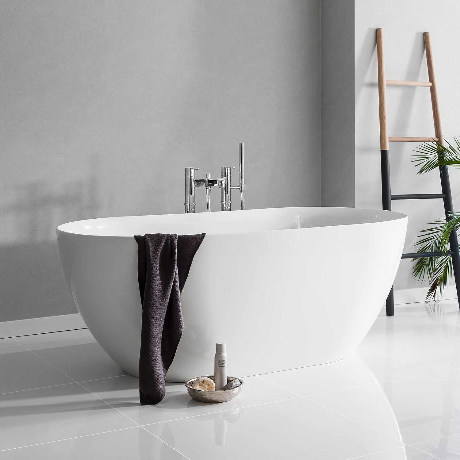 Clearwater Formoso Petite Freestanding Bath 1500mm x 800mm - Clear Stone-0