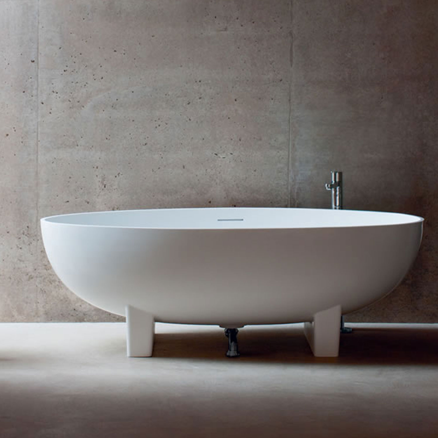 Clearwater Lacrima Freestanding Bath 1690mm x 800mm - Natural Stone-0