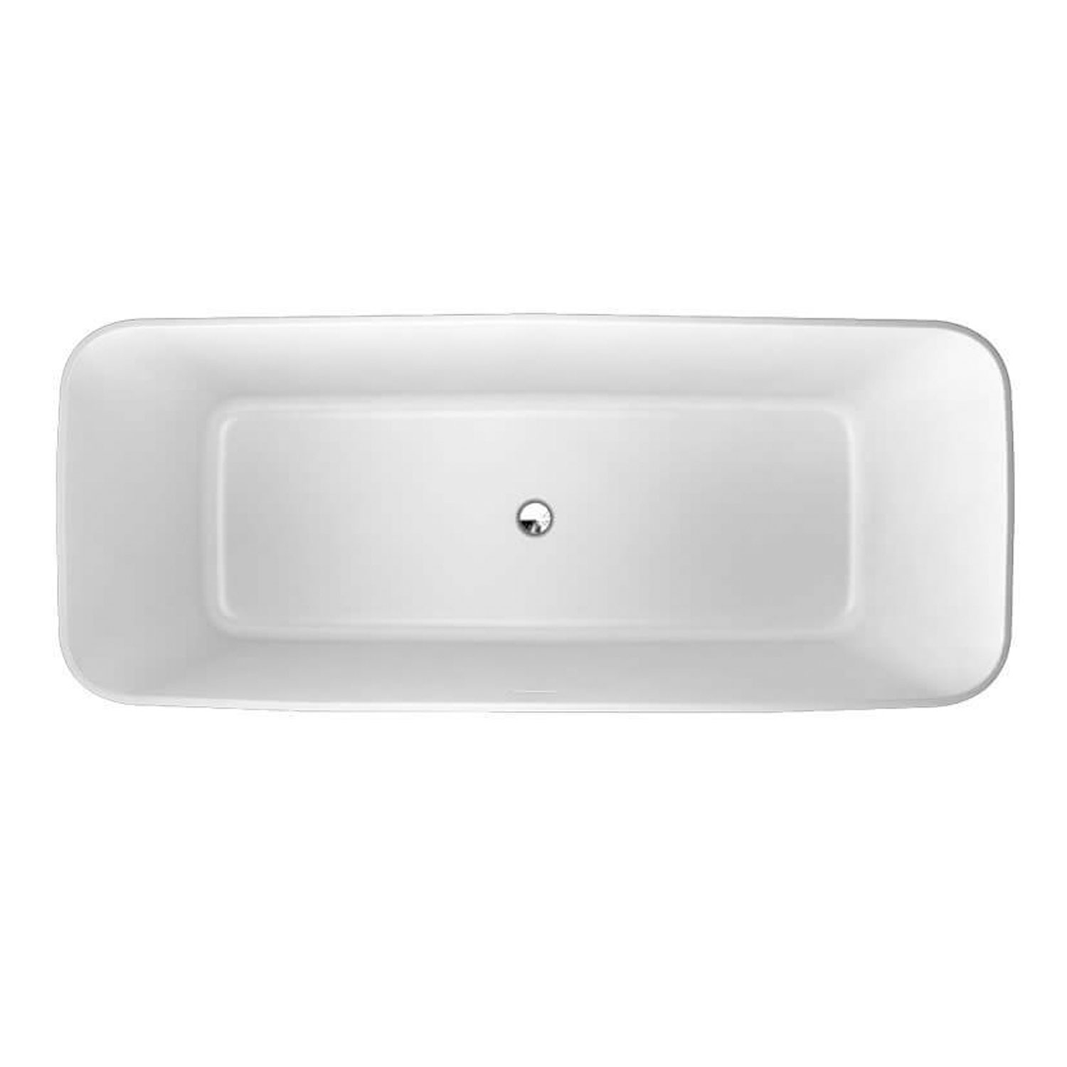 Clearwater Palermo Grande Freestanding Bath 1790mm x 750mm - Clear Stone-1