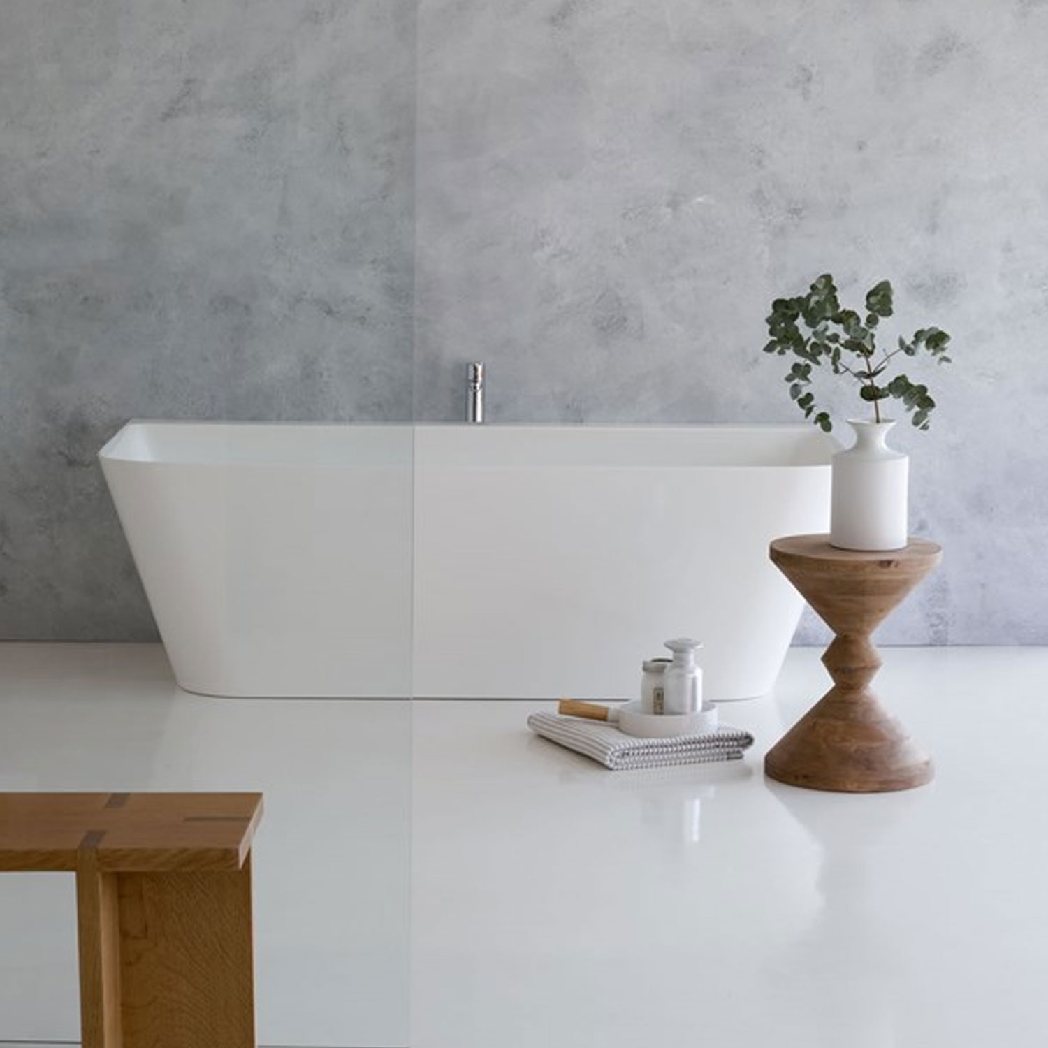 Clearwater Patinato Grande Freestanding Bath 1690mm x 800mm - Clear Stone-0