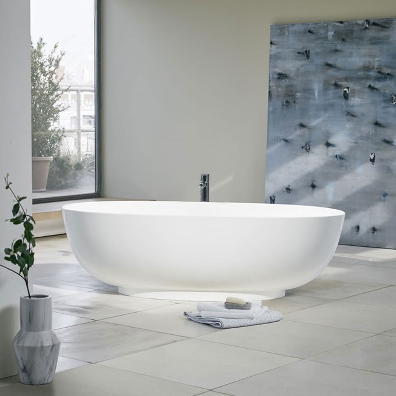 Clearwater Puro Freestanding Bath 1700mm x 750mm - Clear Stone-0