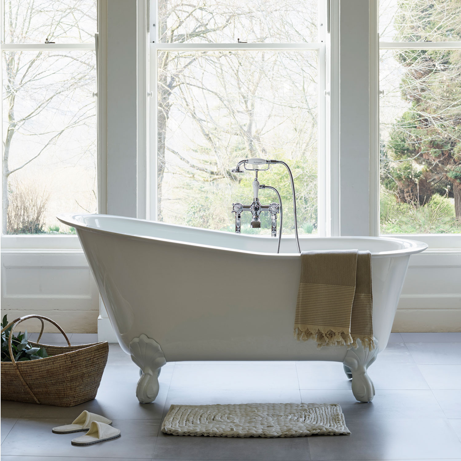 Clearwater Romano Grande Traditional Freestanding Slipper Bath 1690mm x 750mm - Clear Stone-0