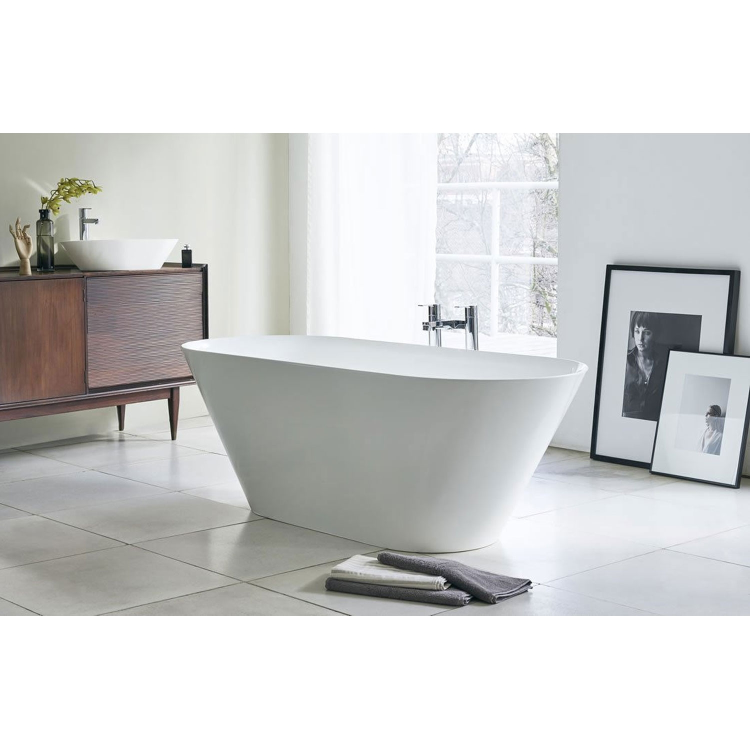 Clearwater Sontuoso Freestanding Bath 1690mm x 700mm - Clear Stone-0