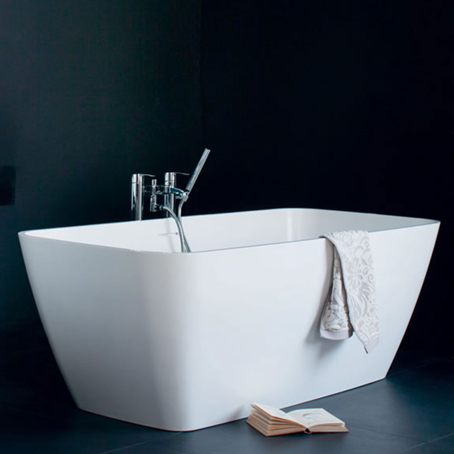 Clearwater Vicenza Piccolo Freestanding Bath 1600mm x 750mm - Natural Stone-0