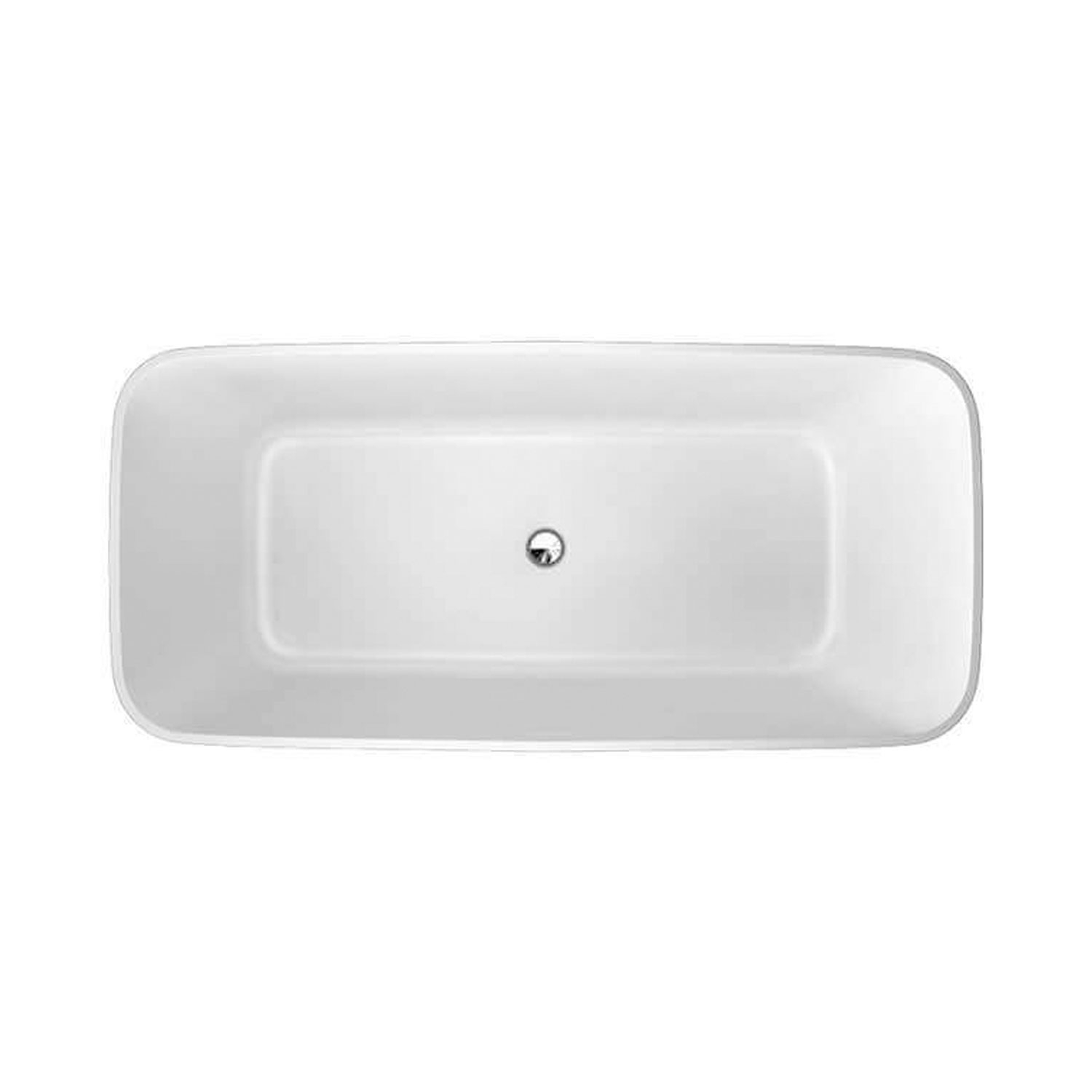 Clearwater Vicenza Piccolo Freestanding Bath 1600mm x 750mm - Natural Stone-1