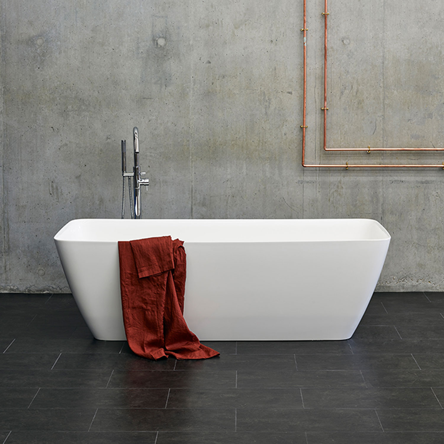 Clearwater Vinceza Grande Freestanding Bath 1800mm x 800mm - Clear Stone-0
