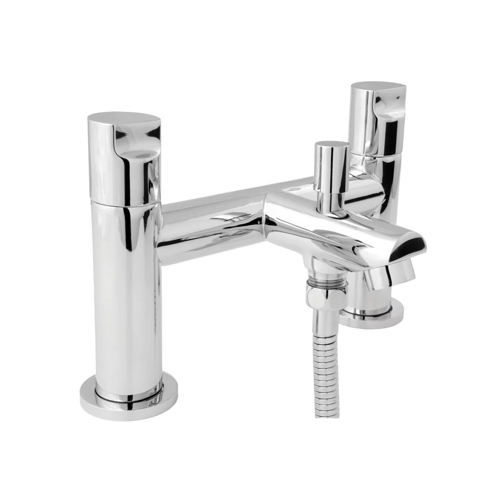 Deva Ikon Pillar Mounted Bath Shower Mixer Tap - Chrome
