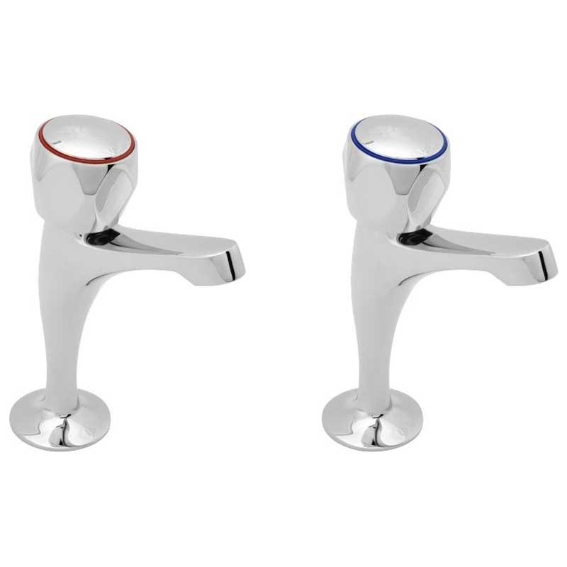 Deva Profile High Neck Kitchen Sink Taps, Pair, Chrome