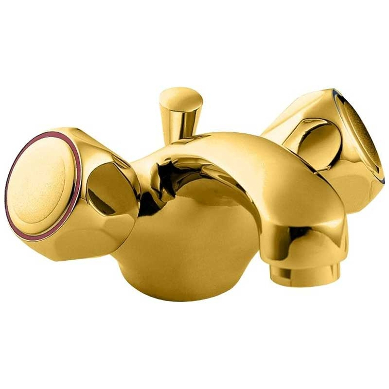 Deva Profile Mono Basin Mixer Tap with Pop-Up Waste - Gold