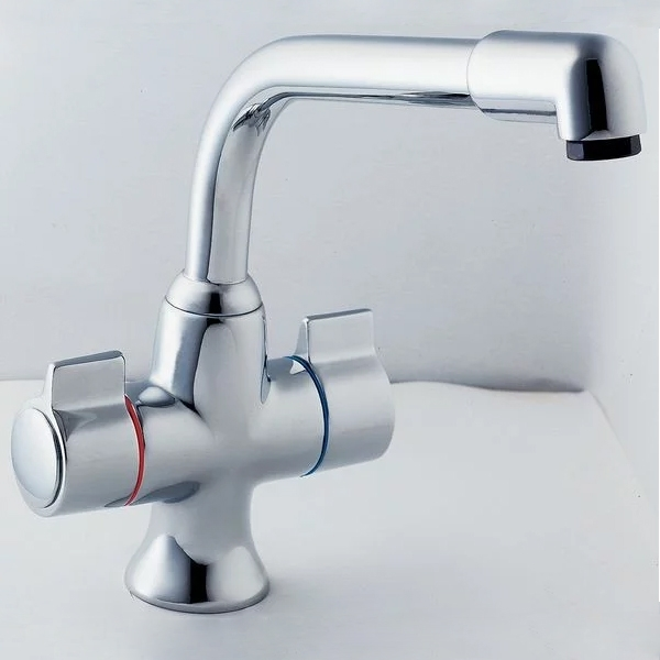 Deva Sauris Mono Kitchen Sink Mixer Tap, Chrome
