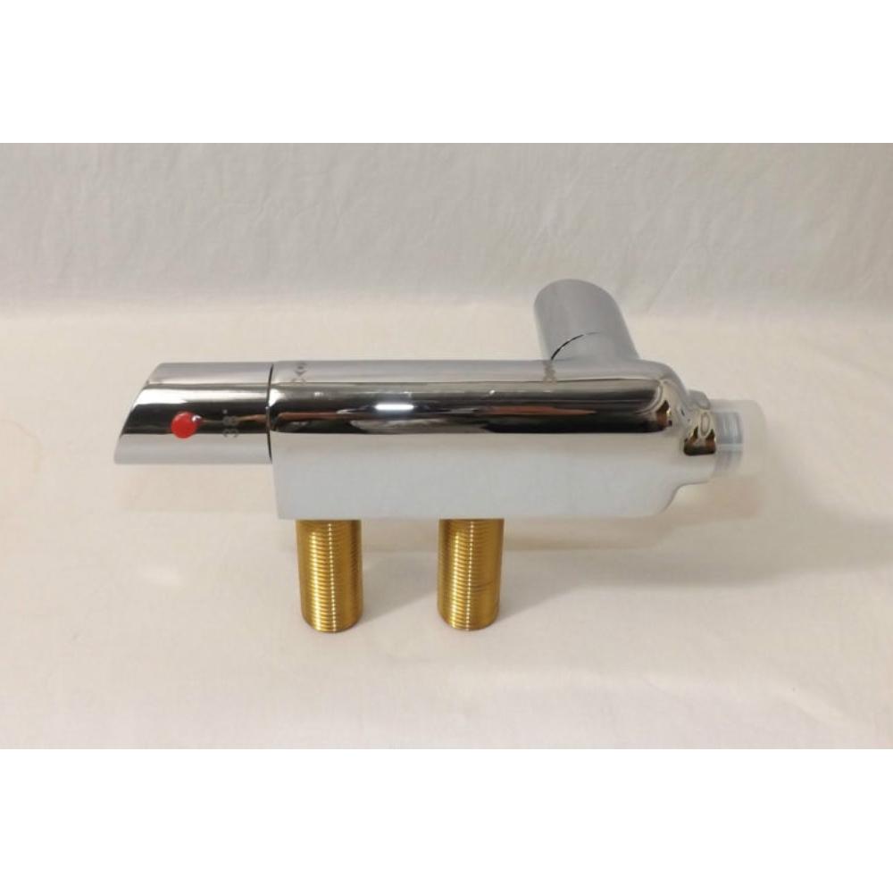Deva Vertical L-Shaped Thermostatic Bar Shower Valve - Chrome-0