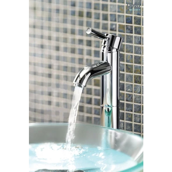 Deva Vision Mono Basin Mixer Tap with Press Top Waste - Chrome-0