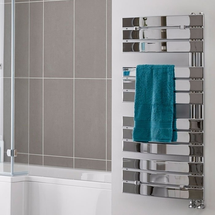 Duchy Aries Designer Heated Towel Rail 780mm H x 550mm W Chrome