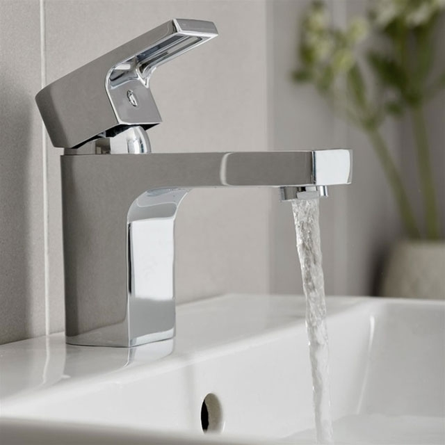 Duchy Dusk Basin Mixer Tap with Push Top Waste - Chrome