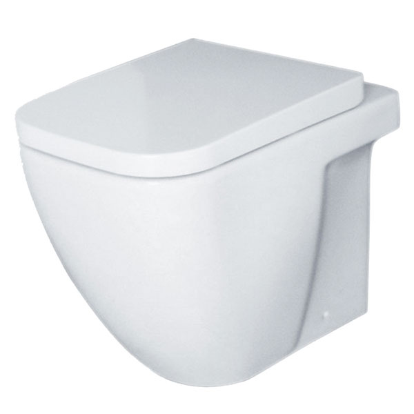 Duchy Fuchsia Back to Wall Toilet WC 550mm Projection - Soft Close Seat