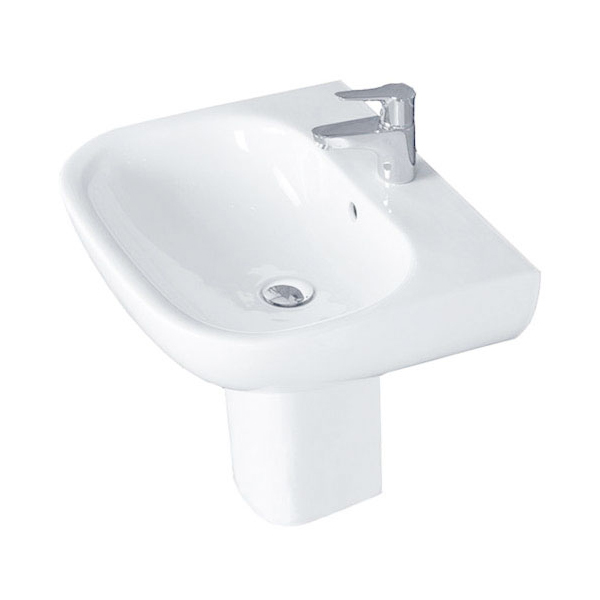 Duchy Lily Basin and Small Pedestal 550mm Wide 1 Tap Hole