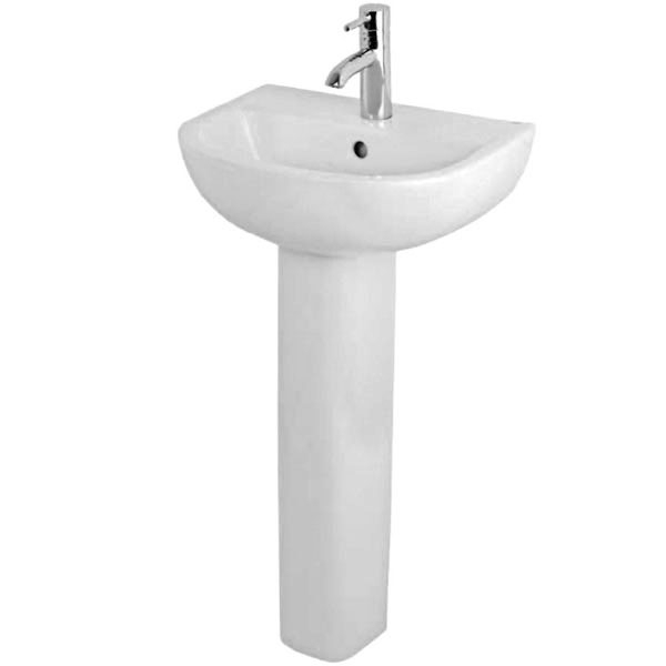 Duchy Lily Basin & Full Pedestal 450mm Wide 1 Tap Hole