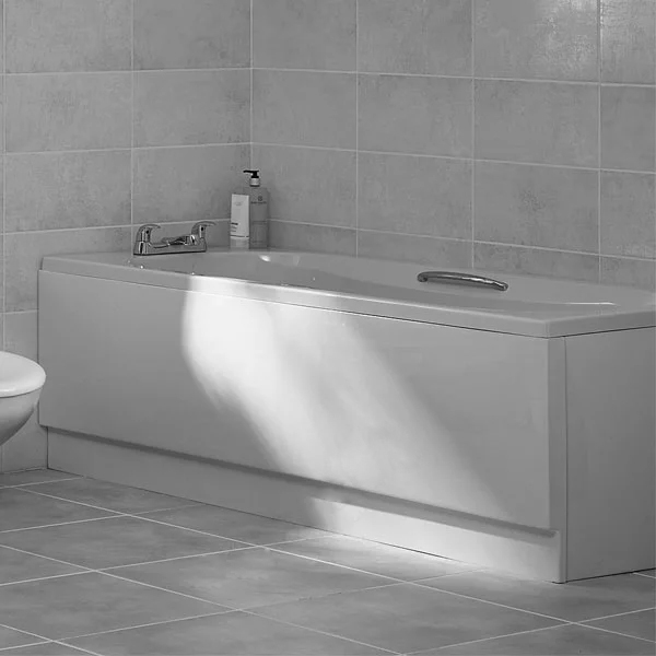 Duchy Ocean Single Ended Rectangular Bath with Leg Set, 1700mm x 700mm, 2 Tap Hole-0