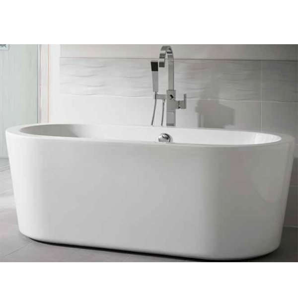 Duchy Pebble Modern Freestanding Bath 1700mm x 800mm 5mm - Acrylic-0